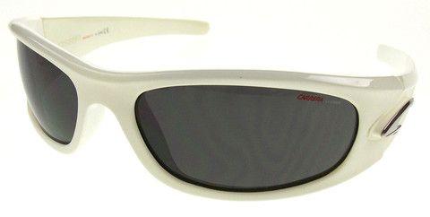 42dbe6864e1 Carrera Sport White Shiny Sunglasses Safilo Keramiko 7AH UV Protection  60-18-130