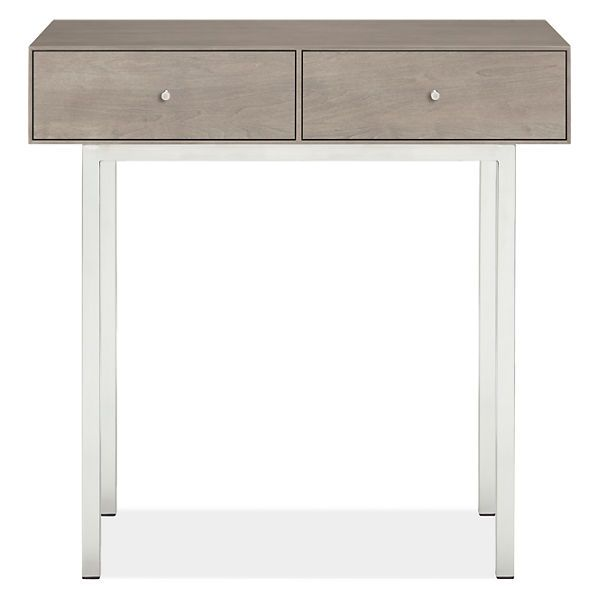 Room & Board - Hudson 30x13 29h Two-Drawer Console Table with Steel Base