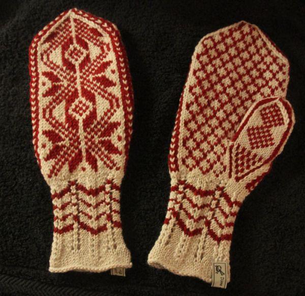 Selbuvott - rød stjerne | Norwegian knitting, Mittens ...
