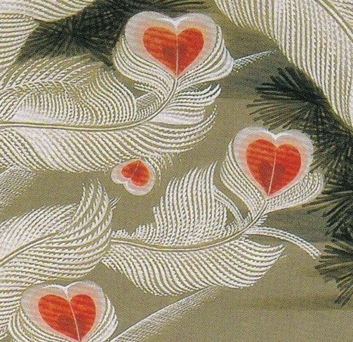 """Detail. Phoenix and Old Pine. Itō Jakuchu. Eighteenth c Japan. One of a set of 30 vertical hanging scrolls, """"Colorful Realm of Living Beings."""" Ink and color on silk. (The Museum of the Imperial Collections), The Imperial Household Agency, Tokyo."""