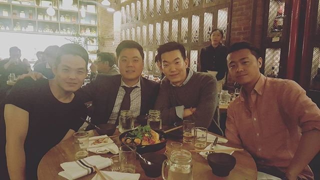 분명 밥'만' 먹기로한건데... (그땐 몰랐지) JoonEvanSangJohn  #nyc #newyork #ktwon #osamil #manhattan #friday #dinner #throwback #beer #soju