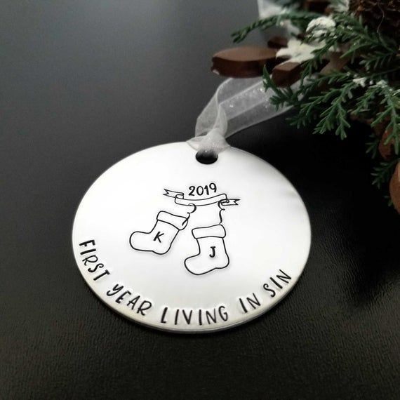 Personalized Funny Gift for Couple, First Christmas ...