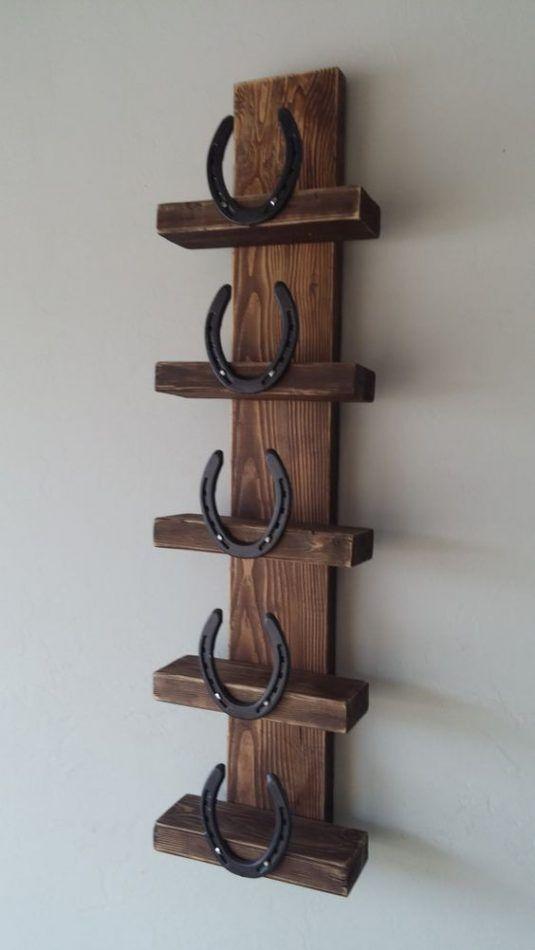 Decoraciones rusticas con herraduras horseshoe - Percheros para sombreros ...