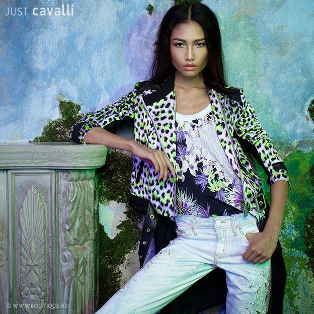 just cavalli dress model beauty fashion style lookbook