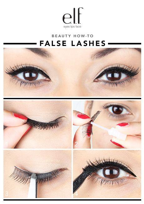 Finish off the false lashes with a great mascara, like the e.l.f. ...