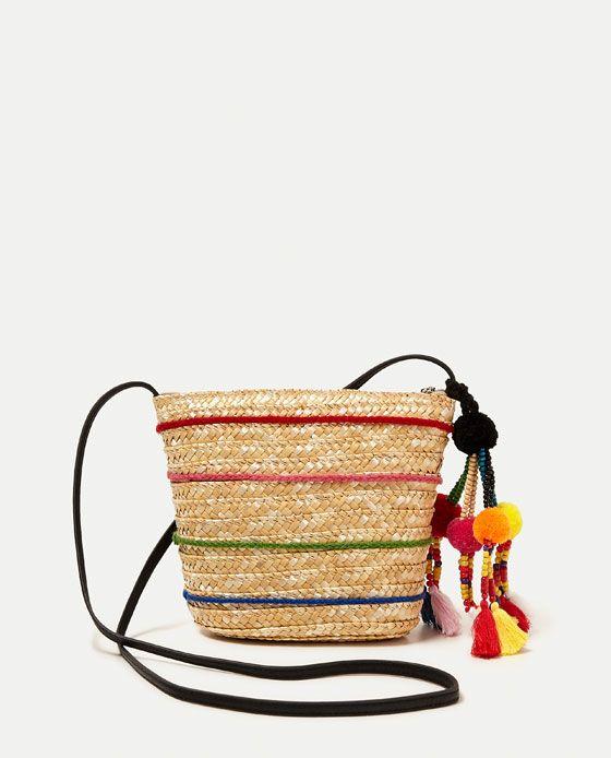5fd998f07 BOLSO BANDOLERA POMPÓN | wishes | Bags, Crossbody bag und Basket bag