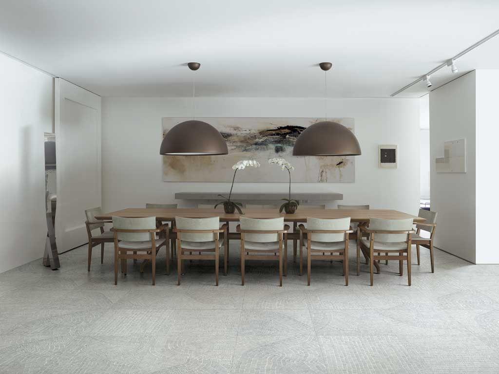 Fossil porcelain tiles by Kasia Zareba