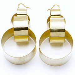 Large Interlocking Links Earrings