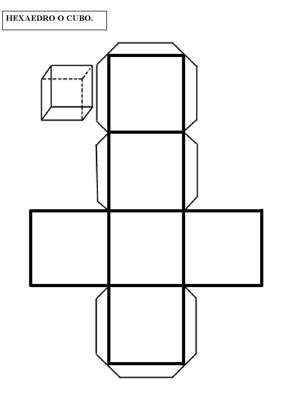Construye Un Hexaedro O Cubo Pinterest Cube Math
