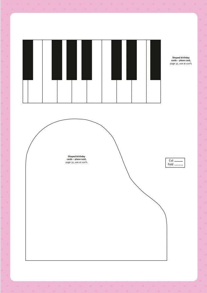 Free Paper Templates From Papercraft Inspirations 168 Card Making Templates Fun Fold Cards Musical Cards