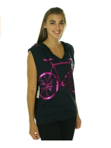 85a3de9294f1cd MIKEN FLOW Open Sides NO EXCUSES Bicylce Print Sleeveless Black Hoodie NWT  M  MIKENFLOW  ShirtsTops  Bicycle  Gym  Fitness