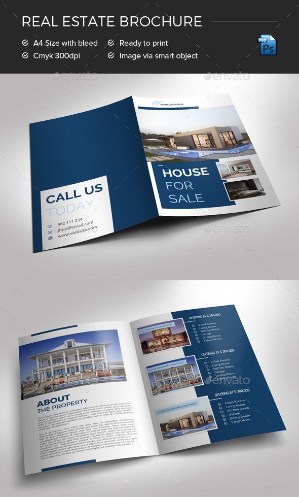 bifold real estate brochure photoshop psd flyer print ready