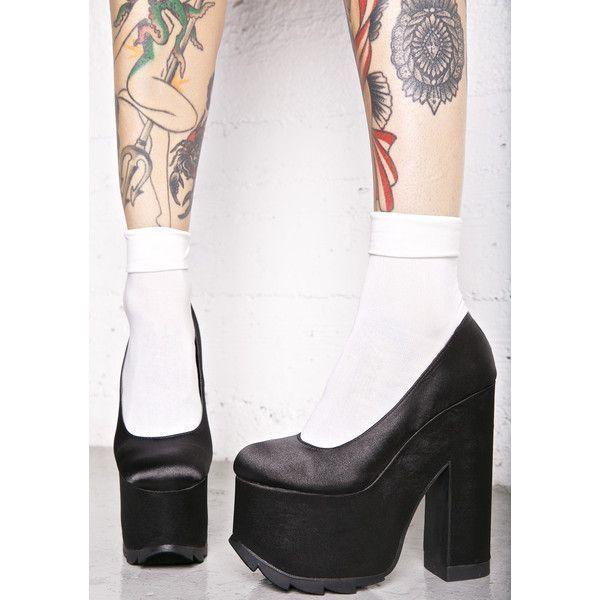 5baa0f2b0e8 Y.R.U. Niite Chunky Heels (385 PLN) ❤ liked on Polyvore featuring shoes