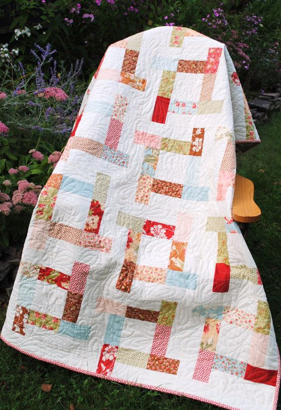 PDF quilt PATTERN baby to king.... Charm Squares, Layer Cake, Jelly Roll or Fat Quarters ...Tea Party. $9.00, via Etsy.