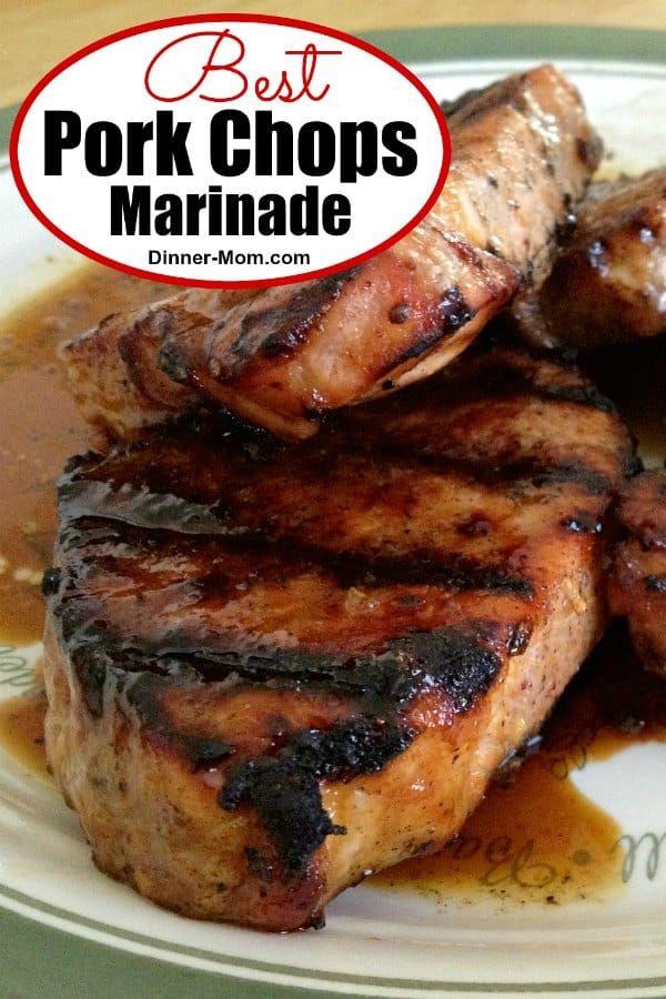 Molasses Marinade for Grilled Pork Chops #grilledporkchops