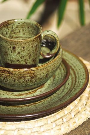 The Pioneer Woman Paige Crackle Glaze Dinnerware Set & Pin by Lina N.Wakil on Brown and Green | Pinterest | Sage