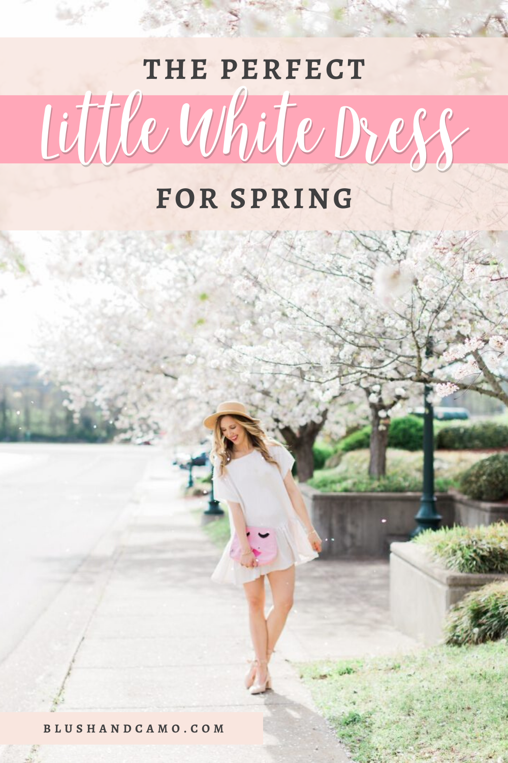 The perfect little white dress to add to your Spring fashion and wardrobe! #springfashion #fashionblogger #springstyle #fashioninspo #fashionblogstyle