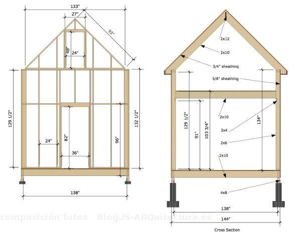 Planos para casa de mu ecas de madera buscar con google - Planos de casas de madera ...
