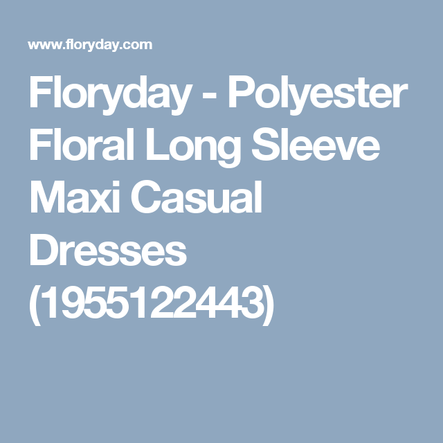 Floryday - Polyester Floral Long Sleeve Maxi Casual Dresses (1955122443)