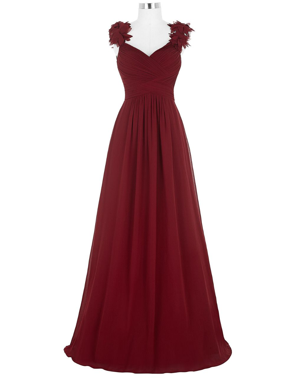 Prom dressesevening dresslong evening dress sexy v neck ruched