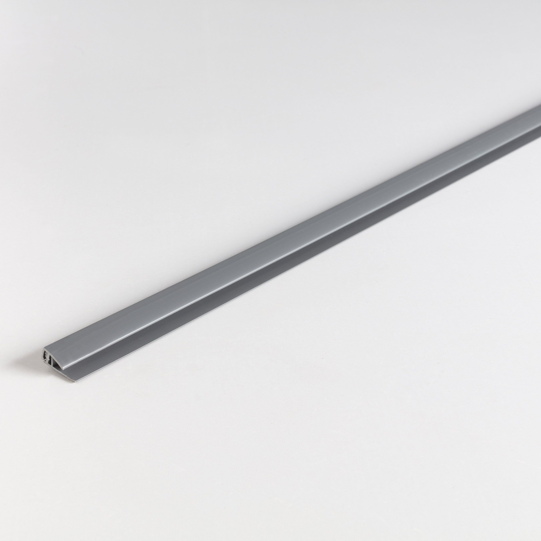 Profilé Départfinition Pvc Mat Gris L26 M X L18 Cm