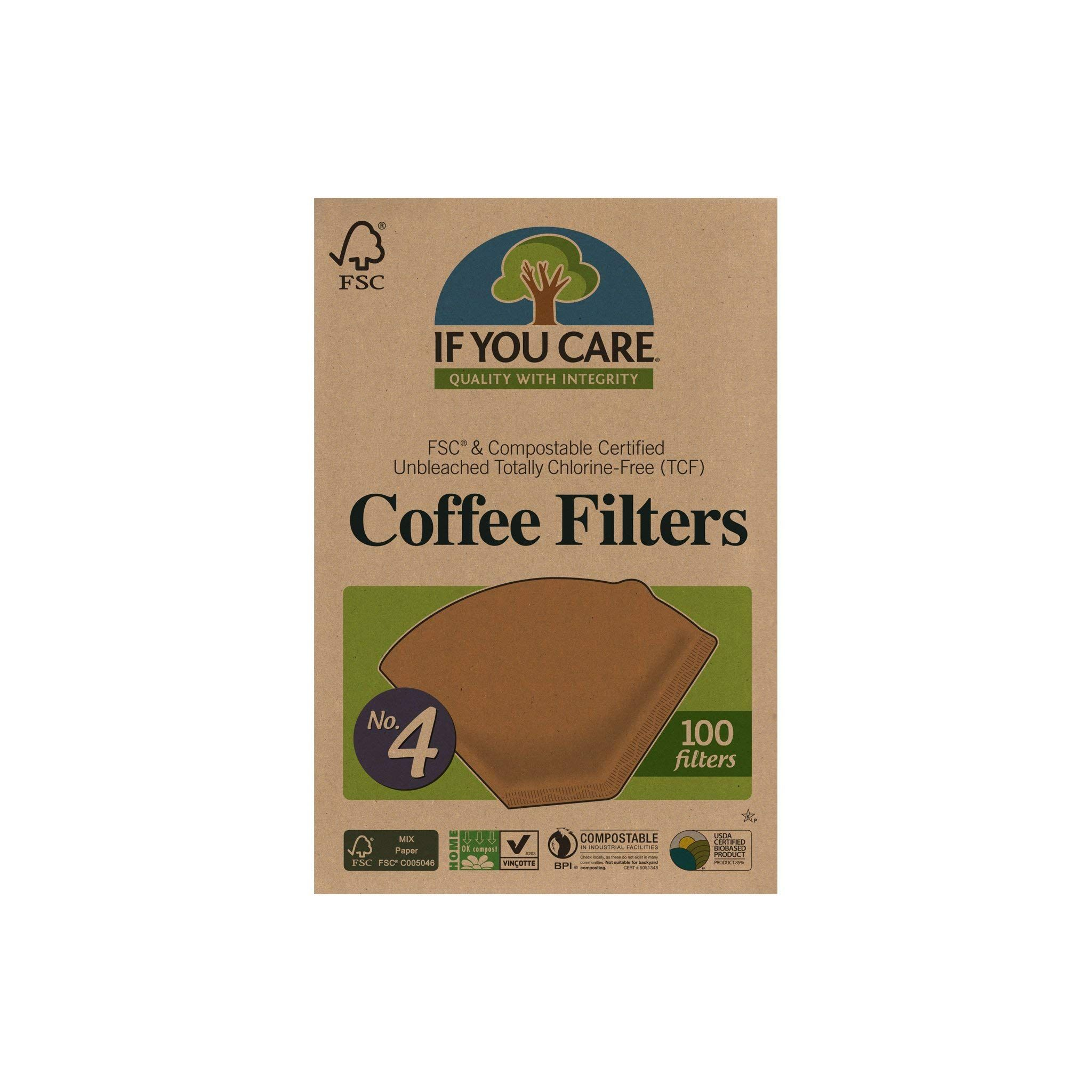 If you care unbleached coffee filters 4 cone 100 count