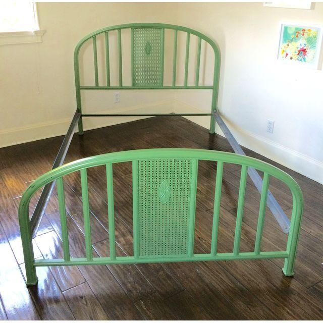 1930s Green Metal Full Size Bed Chairish Full Size Bed Bed
