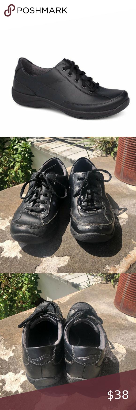 Dansko Emma Black Leather Slip