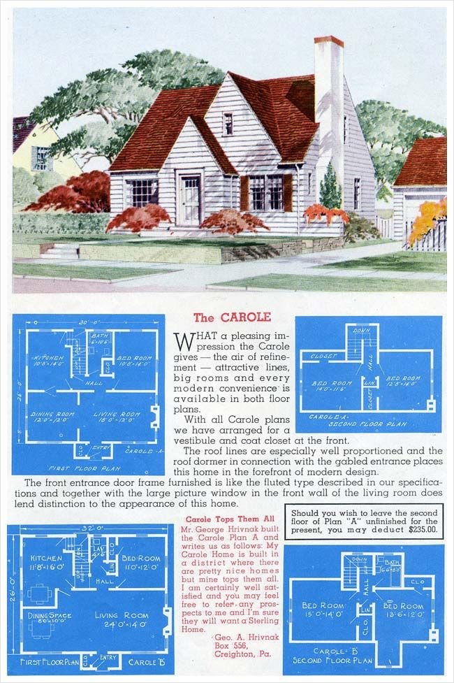 1945 Sterling Homes The Carole