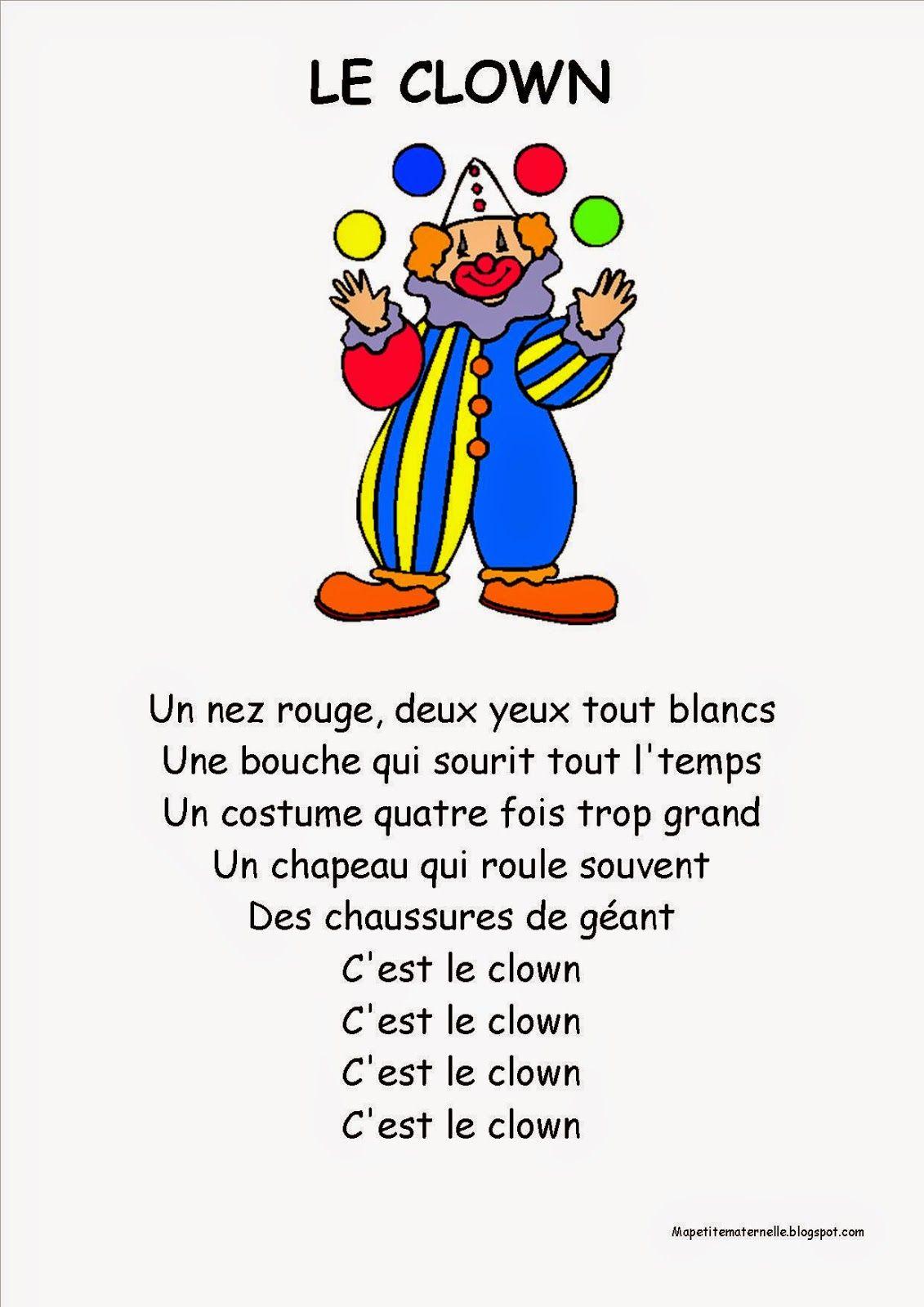 Le clown chanson PS | dutch | Pinterest | Lieder, Sprüche und Basteln