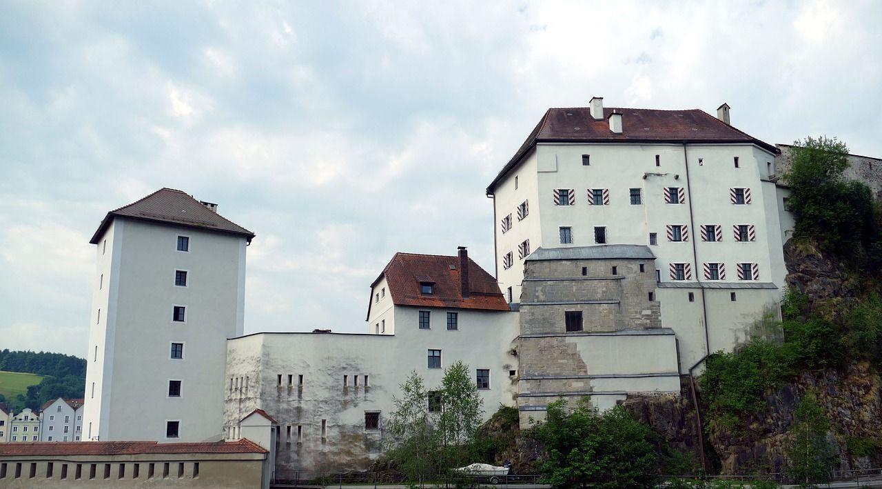 Castle, Passau, Bavaria, Old Town, Danube castle, passau