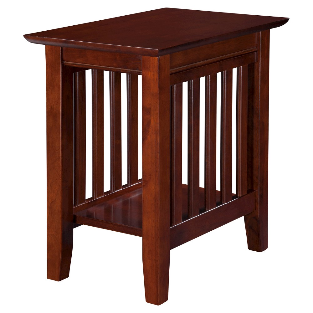 Mission Chair Side Table Walnut Atlantic Furniture With Images Atlantic Furniture Mission Style End Tables Chair Side Table