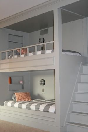 Bunk Bed Idea With Built In Stairs By Owlcitizenskysailor