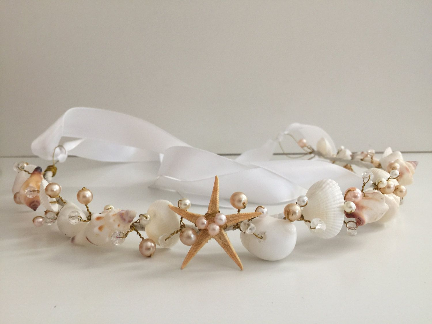 Beach Wedding Hair Crown, Sea Shell Hair Crown, Beach Wedding Tiara ...