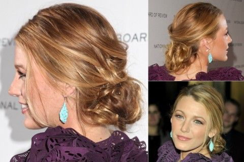 Blake Lively - Best updos, up, do, hair, hairstyle, hairstyles, inspiration, celebrity, wedding, styles, beauty, Marie Claire