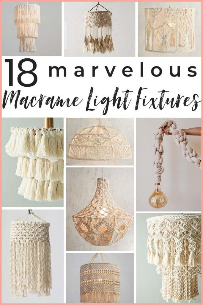 Photo of The 14 Most Gorgeous Macrame Pendant Lights!