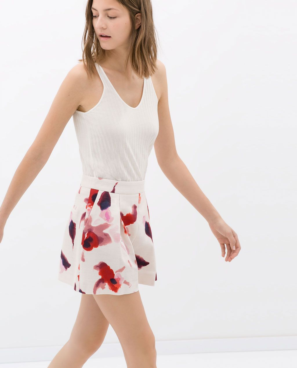 905cb020 Image 3 of PLEATED PRINTED BERMUDAS from Zara   Style I Love ...