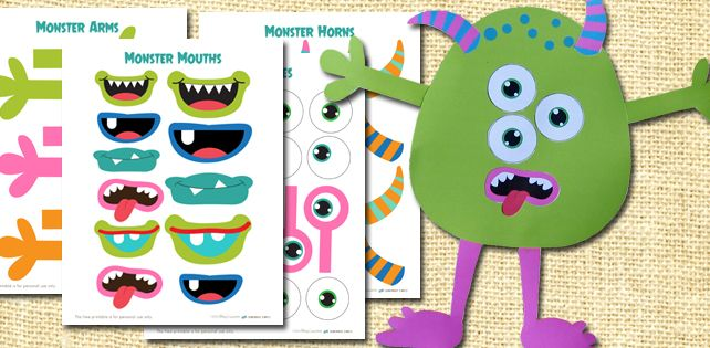 image relating to Build a Monster Printable named Produce A Monster Printable Package Preschool Printables