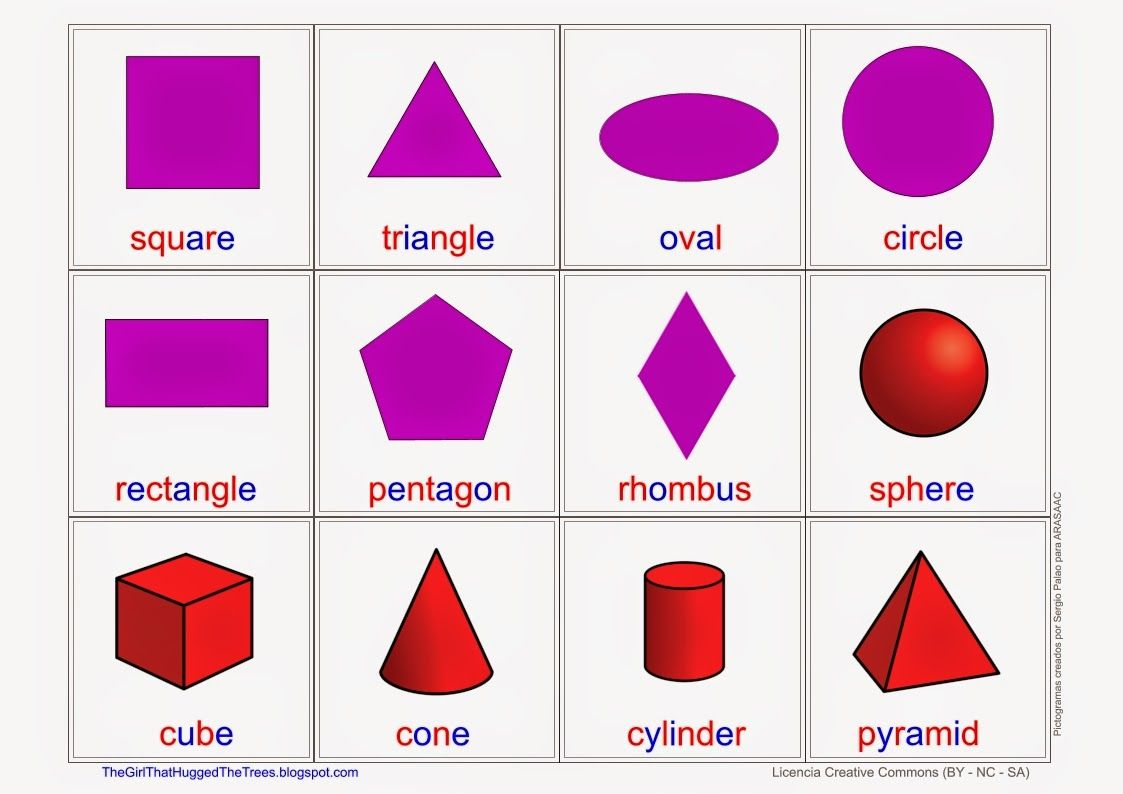 Shapes Figures Free Language Speech Therapy Material