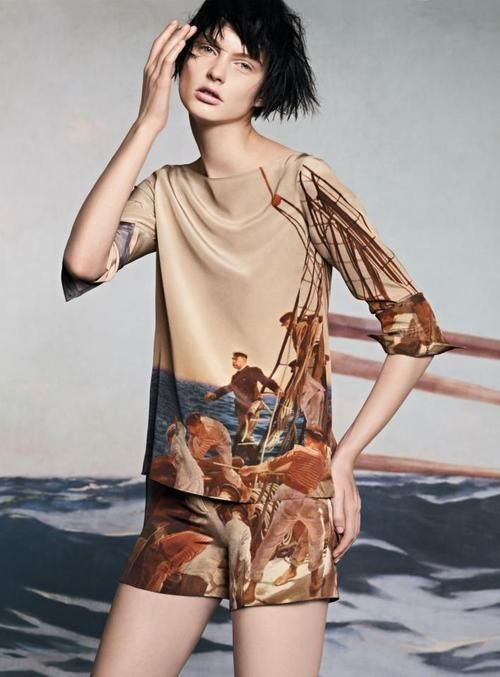 Akris, resort ad campaign autumn/winter 2012/13, modelled by Patricia Van Der Vliet and photographed by Karim Sadli.