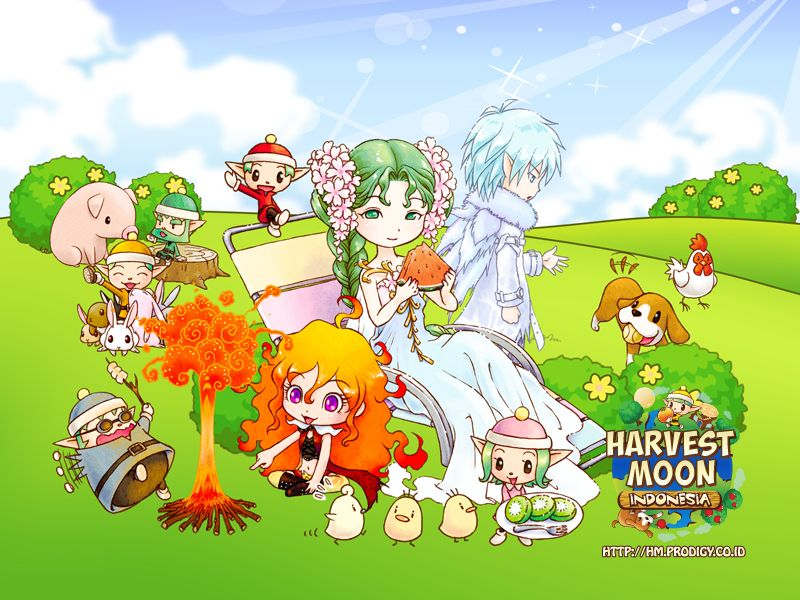 Wallpaper Harvest Moon Game Harvest Moon Story Of Seasons Harvest Moon