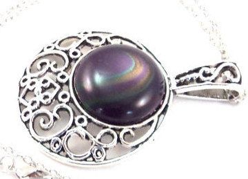 Necklace Statement Antique Silver Pendant by TAKUniqueDesigns