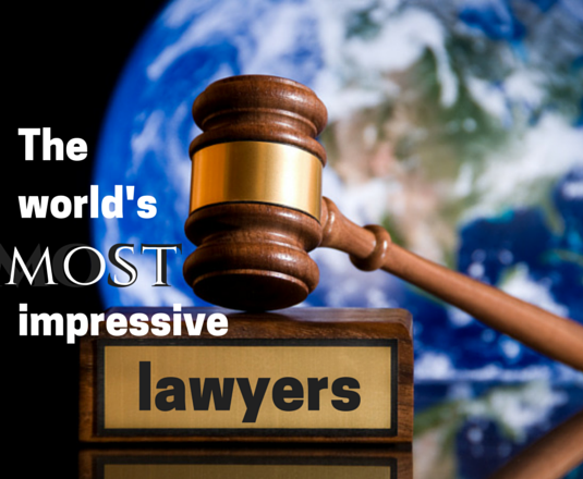 The world's most impressive lawyers