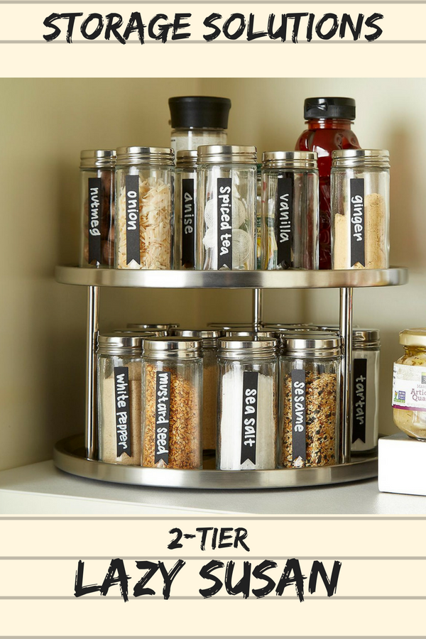 This 2 Tiered Lazy Susan Will Be One Of The Most Efficient Storage Pieces You Will Have In Your Pantry Or Cabinet In St Storage Lazy Susan Spice Organization