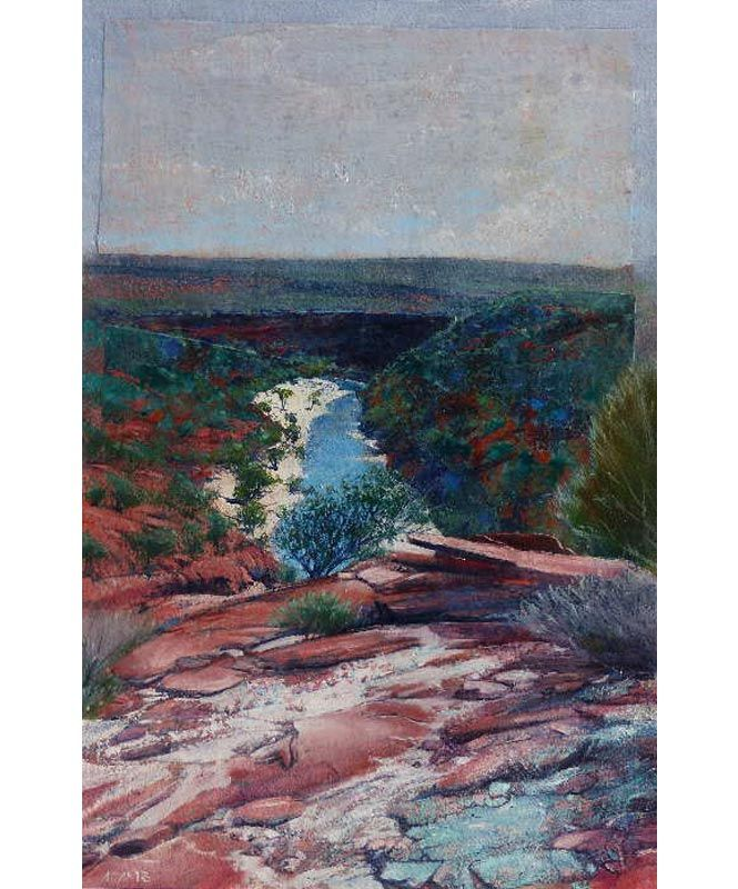 Philip Adams Artist Rocks Gorge Kalbarri australian outback red dirt water creek
