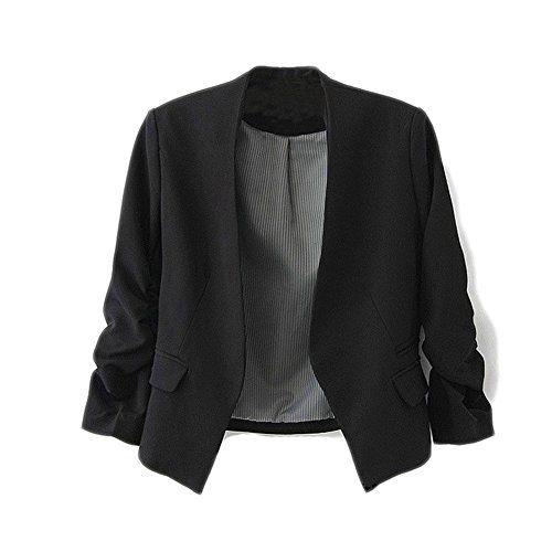 Yonger Korea Style Women's Blazer Jacket Suit Work Casual Multi Color