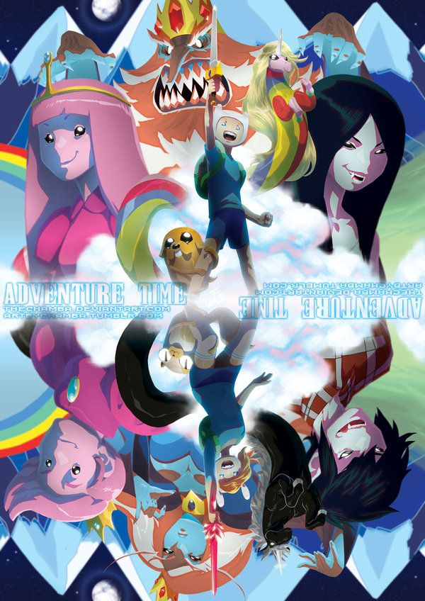 Adventure Time Poster By Jeffrey Cruz Thechamba Featuring Fin