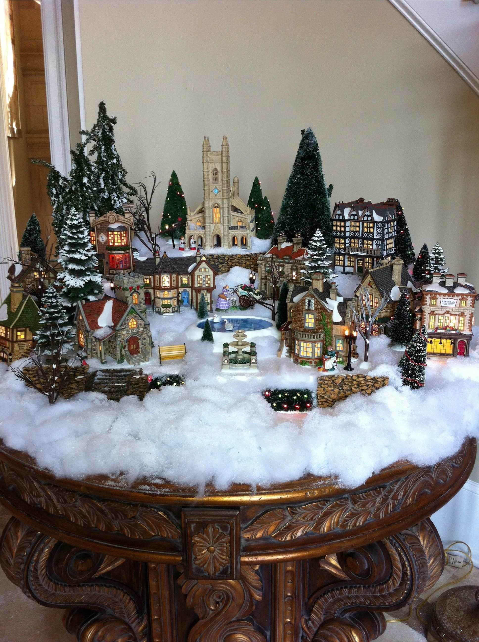 Dickens Village Foyer Table Christmas Tree Village Christmas Vignettes Christmas Village Houses