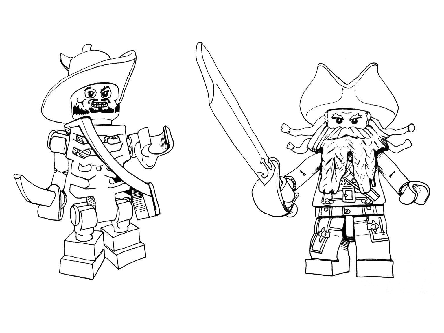 Pirate colouring pages to print - Lego Pirate Coloring Page