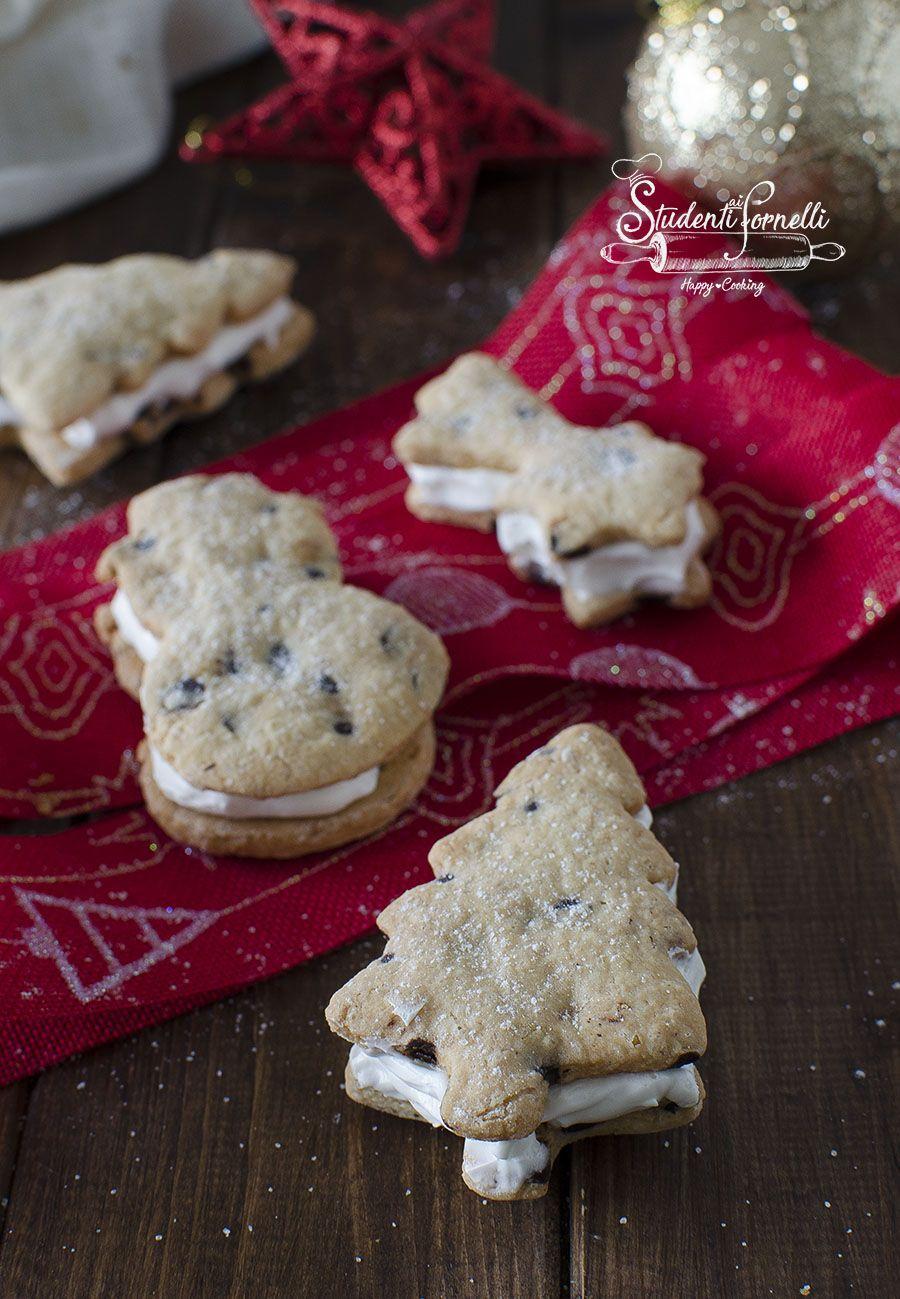 Biscotti Di Natale Ricette Giallo Zafferano.Biscotti Cookies Paradiso Di Natale Ricetta Crema Al Latte